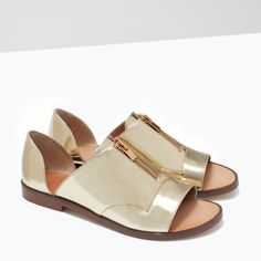 Image 6 of SHINY SANDALS WITH BACK HEEL from Zara