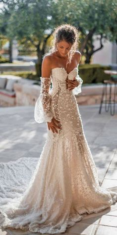 So you must also think about beautiful and delicate summer wedding dresses. There is no better than light flowy beach bridal gown this day. 24 Summer Wedding Dresses To Make Your Celebration Great Civil Wedding Dresses, Wedding Dress Trends, Best Wedding Dresses, Wedding Ideas, Gown Wedding, Weeding Dresses, Sleeved Wedding Gowns, Christmas Wedding Dresses, Different Wedding Dresses
