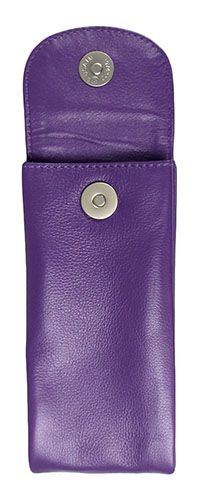 Leather Double Purple Eyeglass Case - $19.25 at The Purple Store
