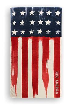 Handdoek Amerikaanse vlag offwhitewit