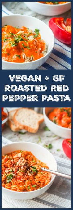 Skip the tomato sauce and make vegan roasted red pepper pasta instead. So creamy and cheesey you'll never know it's vegan. Gluten Free too. Ready in 30 mins. |avocadopesto.com