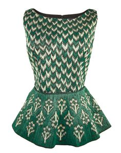 The Leather Applique Peplum Top by My Village by Rimzim Dadu - shop now at portemode.com