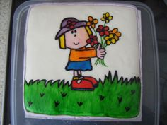 painted cake -all edible