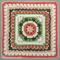 Fountain of Roses ~ free pattern ᛡ {super colors)