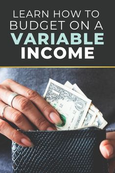 Trying to stick to a budget when your income is inconsistent can feel like you are paddling up a river with a pool noodle. These budget strategies and tips will give you the tools you need to budget like a pro… Even on a variable income! Financial Stress, Financial Goals, Budgeting Finances, Budgeting Tips, Living On A Budget, Frugal Living, Ways To Save Money, Money Saving Tips, Envelope System