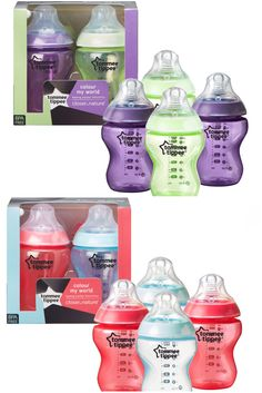 Tommee tippee colour my #world baby #feeding bottles #260ml x4 age 0m+   bpa free,  View more on the LINK: http://www.zeppy.io/product/gb/2/112230927897/