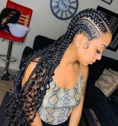 Braid Hairstyles, Protective Hairstyles, Natural Hairstyles, Girl Hairstyles, Black Girl Braids, Girls Braids, Cornrow Braid Styles, Corn Rows, Hey Girl