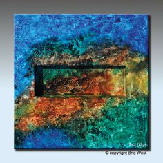 Original Art 36 x 36 SHADOW BOX Canvas Textured by BrieWest, $315.00