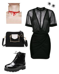 """Halloween Night"" by ainara-paola-rodriguez on Polyvore featuring Balmain and Tarina Tarantino"