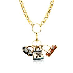 Purse Lover Charm Necklace in Gold - Save 20% off at WhimsicalGifts.com with Code: PINIT20