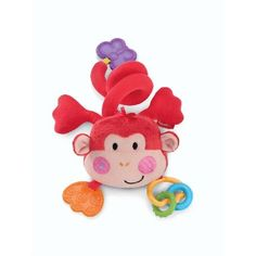 FISHER Price Discover N Grow Musical Monkey This easy-to-attach cuddly pal brings fun to babys fingertips. Press the monkeys cheek for music or enjoy teethable clackers! Requires 1 AAA battery. Product Description A fun monkey friend for on-the http://www.MightGet.com/january-2017-12/fisher-price-discover-n-grow-musical-monkey.asp