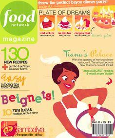 Disney Princesses As Magazine CoverModels - created by artist Petite Tiaras