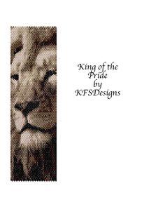 Peyote Bracelet Pattern King of the Pride Buy 2 by KFSDesigns, $6.50