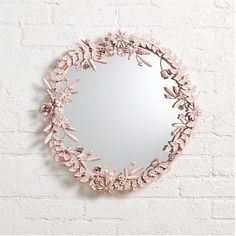 Sale ends soon. It's time to give your wall the crown it deserves. You could start with our exclusive Flower Crown Wall Mirror. This floral mirror features a gorgeous metal floral frame, complete with an easy-to-hang keyhole back. Flower Mirror, Flower Wall, Butterfly Wall Art, Butterfly Baby, Girl Nursery, Girl Room, Girls Bedroom, Nursery Ideas, Bedroom Ideas