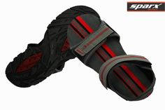 Sparx Men Black Grey Red Floaters Sandals at our best price ₹ 749/- only.