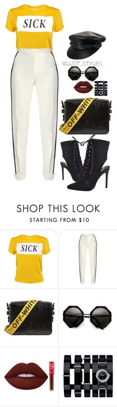 """""""Untitled #196"""" by smackthatash ❤ liked on Polyvore featuring The Ragged Priest, Elie Saab, Off-White, Lime Crime and Chanel"""