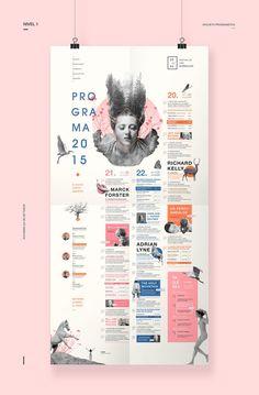 Identidad gráfica para un Festival de Cine Surrealista. Web Design, Resume Design, Book Design, Layout Design, Branding Design, Resume Layout, Corporate Brochure Design, Graphic Design Posters, Graphic Design Inspiration
