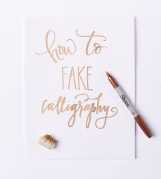 How to fake calligraphy class [Seattle] | cable car couture
