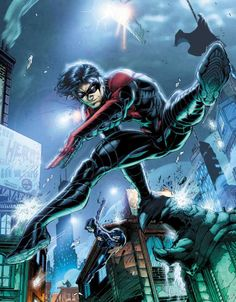 That's great and all Nightwing, but is that the best way to avoid a hailstorm of bullets?