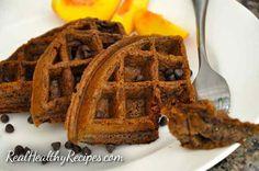 Double Chocolate Waffle Recipe realhealthyrecipes copy