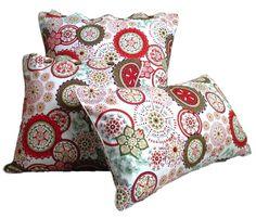 Wildflower RED Decorative Throw Pillow Slip