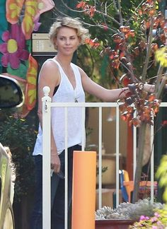 'Mad Max: Fury Road' actress Charlize Theron picking up her son Jackson from school in Los Angeles, California on April 22, 2014.