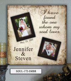 Personalized Wedding Photo Frame SOUL  by PhotoFrameKeepsakes, $75.00