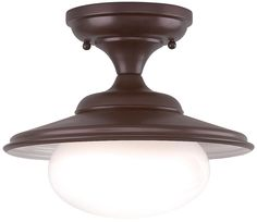 "Independence Collection 11"" Wide Old Bronze Ceiling Light -  another schoolhouse"