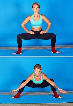 Ces 6exercices t'aideront àpouvoir réaliser rapidement cegrand écart dont tuasrêvé toute tavie Work Out Routines Gym, Gym Routine, Yoga Fitness, Fitness Tips, Gaia Yoga, Claude Van Damme, Fat Burning Yoga, Weekly Workout Plans, Iyengar Yoga