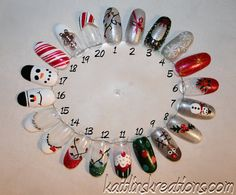 Christmas Artificial Nail Art by KaitlinsKreationsart on Etsy - $14.99