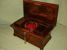Rosewood Tea Caddy c. 1845