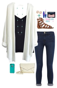 """Untitled #160"" by graciegerhart7 ❤ liked on Polyvore featuring Frame Denim, River Island, O'Neill, Kendra Scott, Saachi, Maybelline, NARS Cosmetics, Kate Spade and LifeProof"
