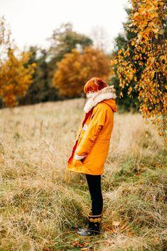 The Clothes Horses - Outfit: Cold Comfort / parka orange et fourrure
