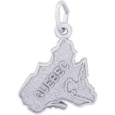 Explore Canada's largest province with our Quebec Map Charm. Engrave names and dates from your travels on back to personalize. Available in silver ...