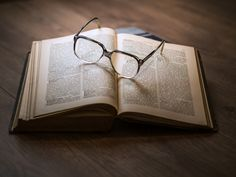 Book and reading glasses -