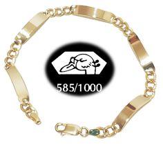 Luxor - luxusný platničkový náramok - zlato 585/000 (plný šperk), 22,5cm/ 14,54g Luxor, Bracelets, Jewelry, Fashion, Moda, Jewlery, Jewerly, Fashion Styles, Schmuck