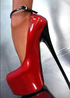 love red... Treat him on Valentines Day with these sexy high heels #shoes