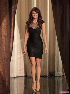 The perfect LBD for pear shape?. Nina Dobrev See how it draws attention upwards?