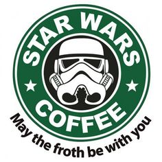 Star-Wars / Starbucks Stormtrooper coffie funny parody Iron On T-Shirt Transfer | eBay