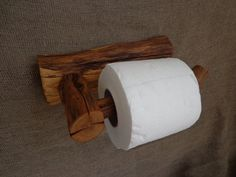 Live Edge Toilet Paper Holder Wooden от Woodber Bathroom