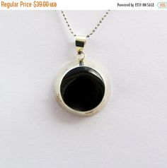 ON SALE Gift For Her,Black Stone Pendant,Onyx Pendant,Sterling Silver Pendant,Everyday Pendant,Gemstone Pendant,Simple Pendant,Onyx Jewelry,