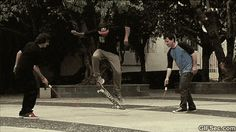 Skateboard ollies vs. Jump Rope GIF - www.gifsec.com