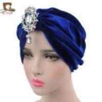 9.50$  Buy here - http://vibsu.justgood.pw/vig/item.php?t=ybhy7d39712 - Women striped Shiny Shimmer Glitter Sparkly Turban Hats Hijab cap