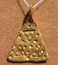Ancient Viking Scandinavian Gold Axe Amulet/Pendant Circa 11th Century
