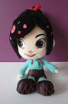 Disney Store 12  Wreck it Ralph Vanellope Von Schweetz plush soft toy doll