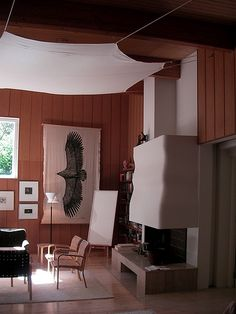 Villa Mairea, Alvar Aalto, Noormarkku, Finland. 1938 (with some 70s decor)