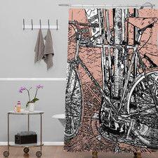 Romi Vega Bike Shower Curtain