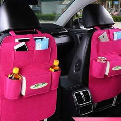 1Pc Car Back Seat Storage Organizer Trash Net Holder Travel Storage Bag Hanger for Auto Storage Pouch Rack ping