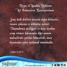 Kırgız ve Anadolu Türkleri #bilmece #yagmurcomtr
