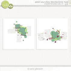 Plant Your Story: Blocked {volume two} by Sara Gleason
